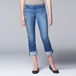 Simply Vera Vera Wang Jeans Capris Sz 4